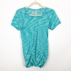 Athleta Fastest Track Ruched Athletic Top